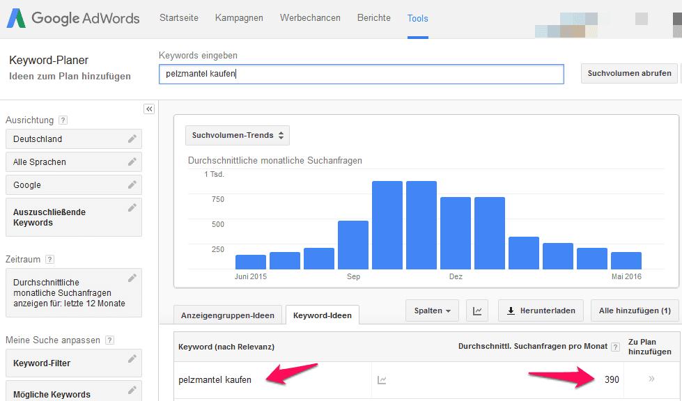 Pelzmantel kaufen Suchanfragen Google